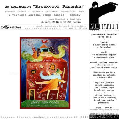 """28.KULINARIUM """"Broskvová Panenka"""""""