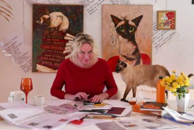 Cena obrazu pro kočičí útulek se vyšplhala na 27 tisíc