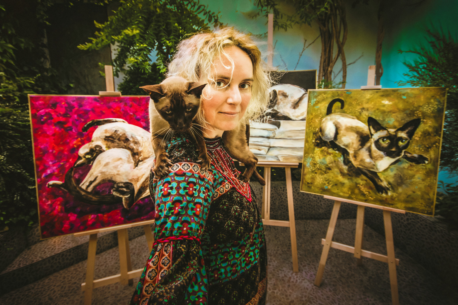 Obraz Dorinky vznikl jako symbol péče oopuštěné kočky zOlomoucka