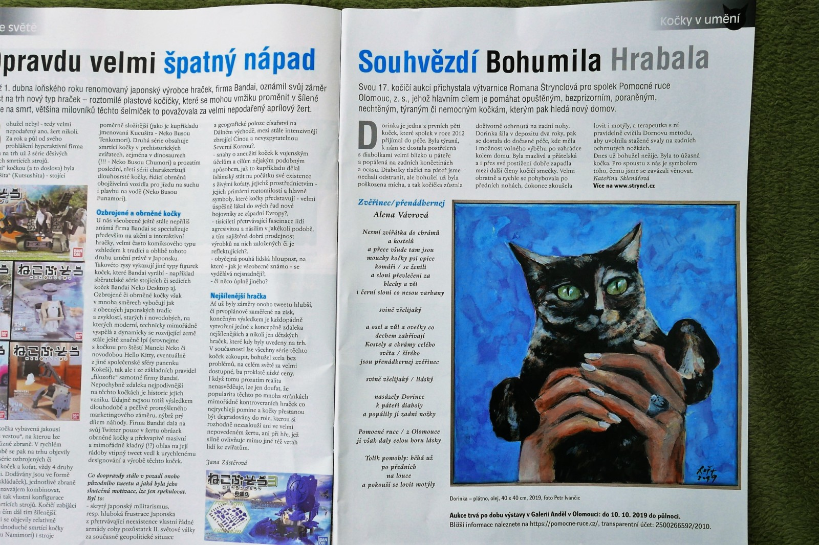 Galerie hlavního města Prahy Magdalena Juříková to řekla.